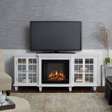 real flame marlowe 70 in freestanding electric fireplace tv stand in white
