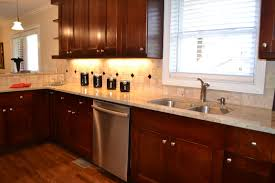 kitchen backsplash cherry cabinets black counter. Full Size Of Kitchen:good Looking Kitchen Colors With Dark Cherry Cabinets Wall Color Del Backsplash Black Counter R