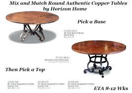 round copper dining table round copper dining table was now copper top dining table houston
