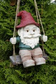 playing garden gnome
