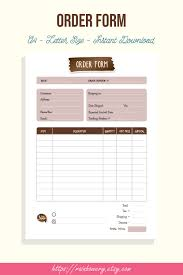 Word Forms Templates Generic Order Formlate Registration Word Shirt Application