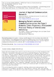 publication pdf managing patient centered communication across publication pdf managing patient centered communication across the type 2 diabetes illness trajectory a grounded practical theory of interactional