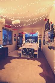 To achieve this look all you have to do is rearrange your bedroom for a  more organized chaotic look. Pull out the box of Christmas lights ...