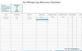 Gas Mileage Expense Report Template 4 Log Sheet Truck Spreadsheet