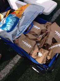 Post Game Football Snacks Raider Flag Team For The Victory