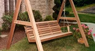 wood porch swing with stand wooden porch swings stand home design ideas