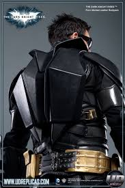 the dark knight rises batman leather motorcycle back pack image 3