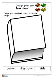 design a book cover english writing worksheet