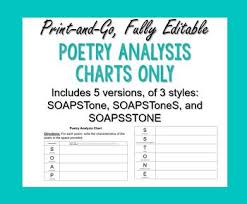 Editable Soapstone Poetry Analysis Chart For Use With Any Poem