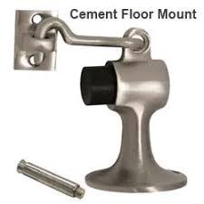 cement floor hook door stops