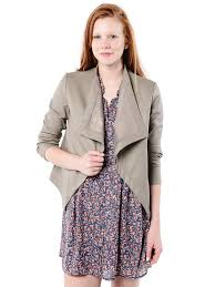 bb dakota peppin dy faux leather jacket with rib knit undersleeve