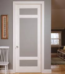 frosted glass bedroom door with white door frame