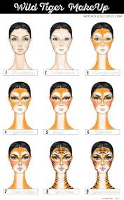 tiger make up how to