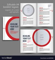 Design Spreads A4 Booklet Layout Design Template With Cover
