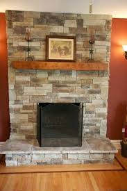 fireplace remodel stone over