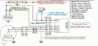 gm ignition module wiring diagram junk yard genius com dual ignition upgrade page the advantage of the ford duraspark module is troubled child gm tbi ignition wiring