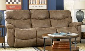 traditional living room with lazy boy leather reclining sofa and 3 topic to coffee table