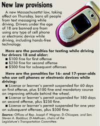 massachusetts ban on texting while driving starts today com newlaws0927 jpg