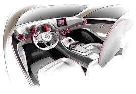 Car Design Classes Mercedes Benz Concept A Class Interior Design Sketch