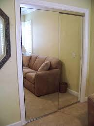frameless mirrored closet doors.  Doors Frameless Mirror Wardrobe Doors In Brushed Nickel Finish Throughout Mirrored Closet S