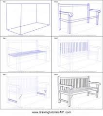 how to draw a bench printable step by step drawing sheet drawingtutorials101