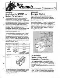 Xr400 Jetting Chart Honda Xr650r Parts Service And Repair