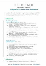 Staffing Specialist Resumes Staffing Specialist Resume Samples Qwikresume