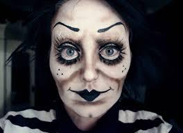 creepy cartoon doll make up you
