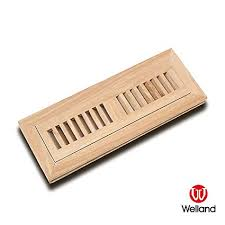 welland 2 inch x 12 inch hickory hardwood vent floor register flush mount unfinished