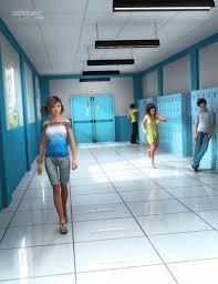 hallway at school. school hallway at p