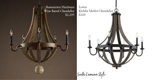 restoration hardware wine barrel chandelier 2395 or you can pay 100 for a membership and get 25 off on all full d items but that still