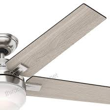 hunter 54 brushed nickel contemporary ceiling fan with cased white led light kit and remote