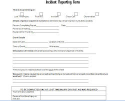 Get Employee Incident Report Form Doc Project Management Excel