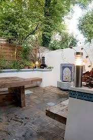moroccan inspired garden courtyard