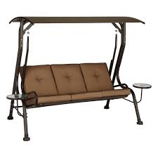 living accents porch swing steel brown 750 lb 47 3 in d x 68 2 in