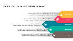 Sales Ppt Template Sales Target Achievement Arrows Powerpoint Template And