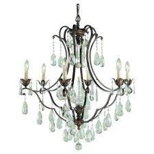 crystal bronze chandeliers lighting the home depot bronze crystal chandelier 6 light bronze chanlier antique bronze