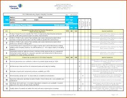 Sample Excel Checklist Template checklist template excel sop example 1