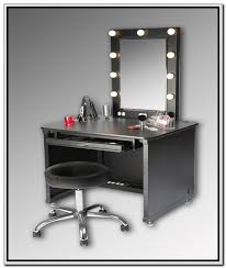 makeup vanity table set with mirror and lights mugeek vidalondon with black vanity table with mirror