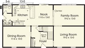 Two Story House Floor Plans 4 Bedroom 2 And 1 Two Free Printable