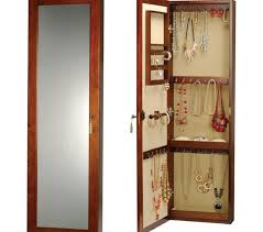 wall jewelry armoire top wall mounted jewelry cabinet on new walnut regarding locking how do you