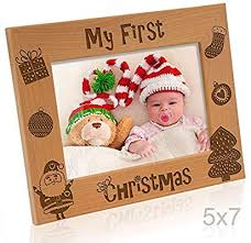 Amazon Com Kate Posh My 1st Christmas Picture Frame My First