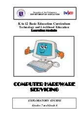 Computer Hardware Servicing Learning Module V.2.0
