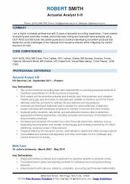 Actuary Job Description New Actuarial Analyst Resume Samples QwikResume