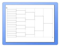 Excel Ncaa Tournament Bracket Printable Pool Tournament Bracket Sheets Blank Template Tennis Excel