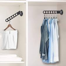 2 pack wall mount clothes hanger rack
