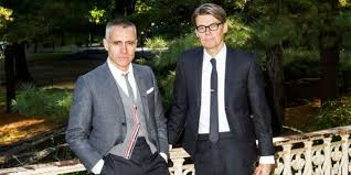 Thom browne classic wardrobe laid back style check printing alternative fashion printed shirts buffalo check women wear front button. Thom Browne Andrew Bolton And Hector The Dachshund Have Some Thoughts