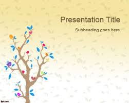 Tree Powerpoint Template Cartoon Tree Powerpoint Template