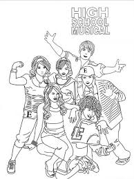 Small Picture High School Musical Coloring Pages for kids 10