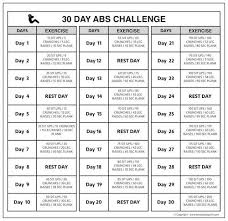 30 Day Easy Push Up Challenge 30 Day Pushup Challenge Chart